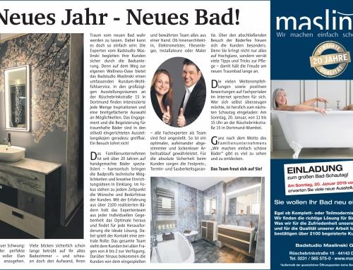 Neues Jahr – Neues Bad!